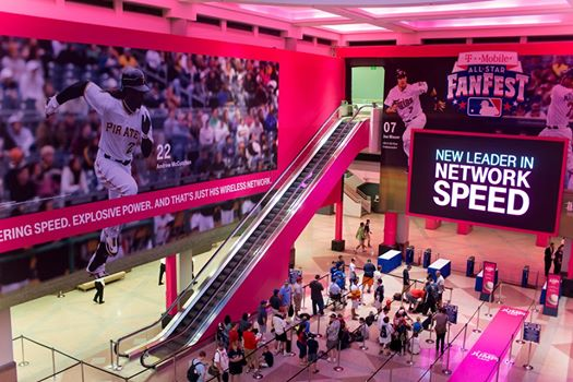 National Flag & Display produces banner scenic elements for T-Mobile All-Star FanFest for Major League Baseball