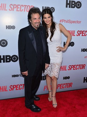 Al Pacino and Lucila Sola at movie event of Phil Spector (step and repeat banners produced by National Flag and Display)