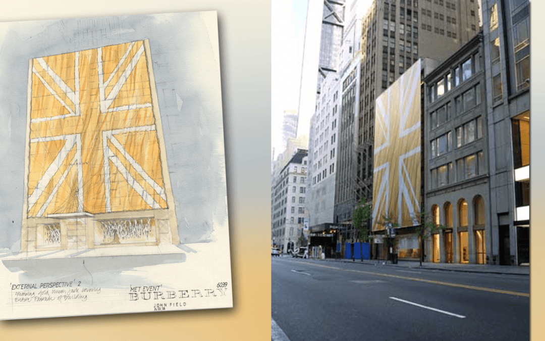 National Flag & Display produces the Outdoor Building Banner for Burberry