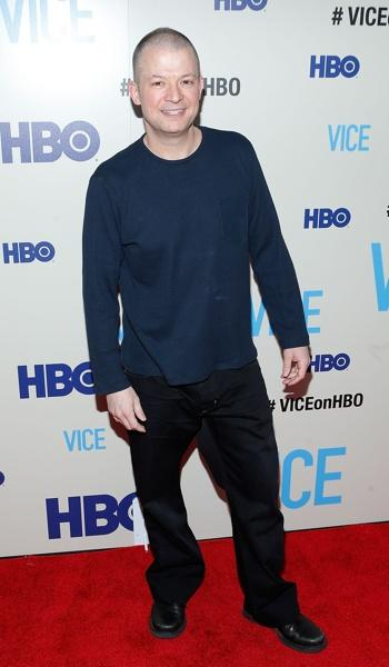 "Comedian Jim Norton premiere of ""Vice"" at the Time Warner Center (step and repeat banners produced by National Flag)"