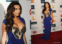 Kim Kardashian - Clive Davis Pre Grammy Party (step and repeat banners produced by National Flag and Display)