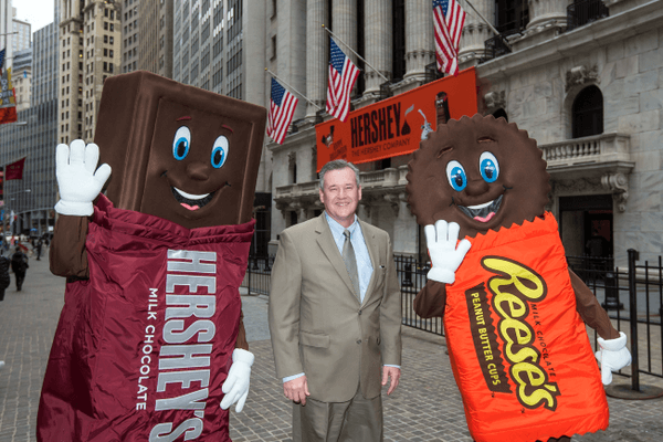 Hershey and Company - NYSE custom printed outdoor and indoor banners produced by National Flag and Display in NYC