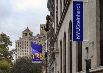 National Flag and Display produces Custom Outdoor Banners at New York University.