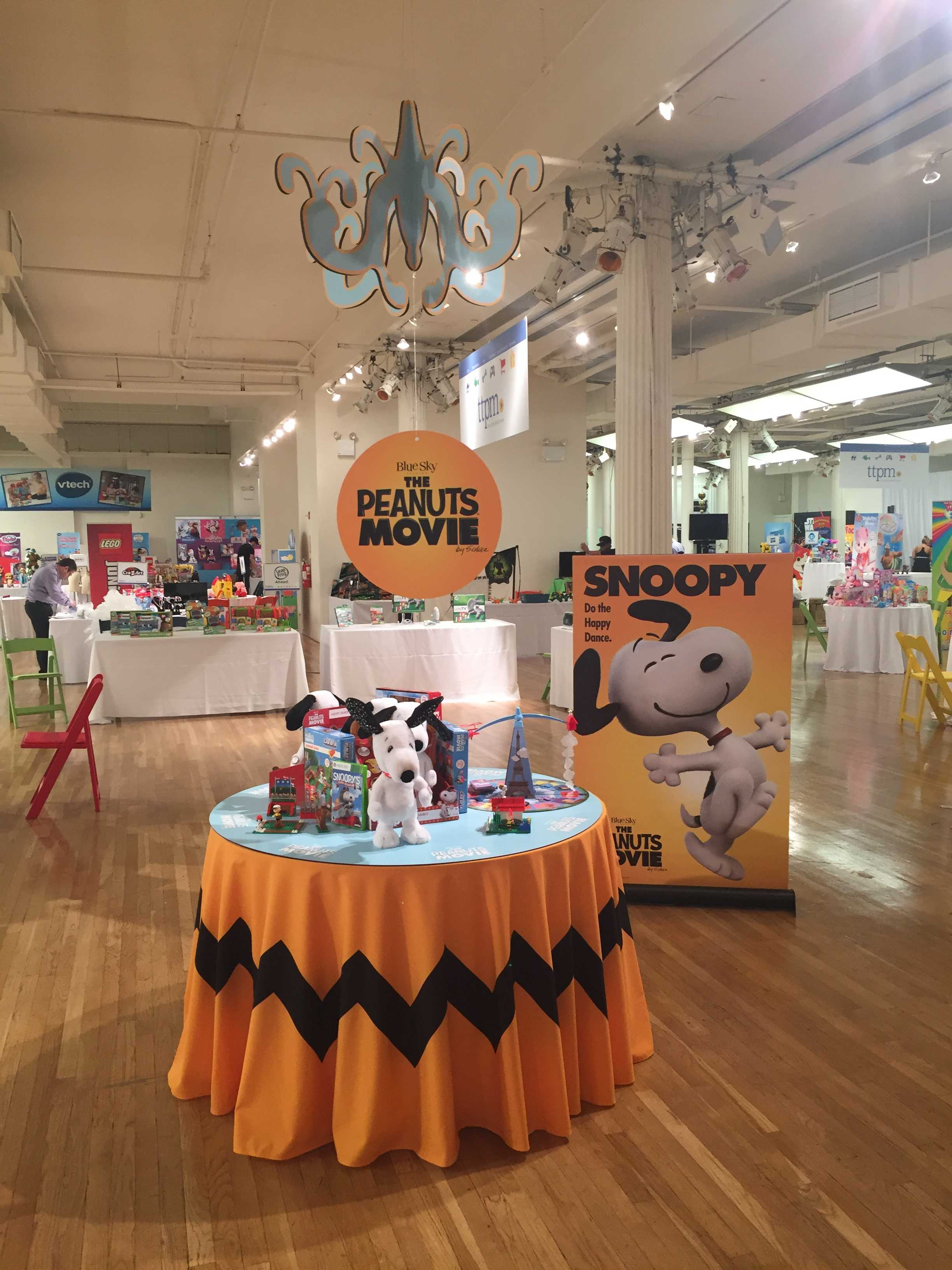 Peanuts New Movie Custom Display - Custom Displays manufactured by National Flag and Display in NYC