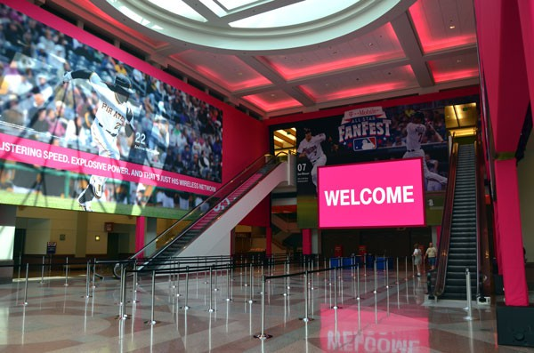 T-Mobile Fanfest Event - Indoor Banners manufactured by National Flag and Display in NYC