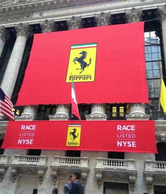 Custom Banners for Ferrari IPO at New York Stock Exchange