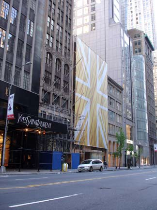 From 5th Avenue - Custom Banner building wrap manufactured by National Flag & Display (New York, NY)