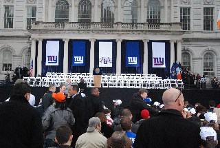 NY Giants - New York City Hall - Custom Banners produced by National Flag & Display (New York, NY)