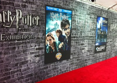 Harry Potter event - Custom Step & Repeat Banners manufactured by National Flag & Display (New York, NY)