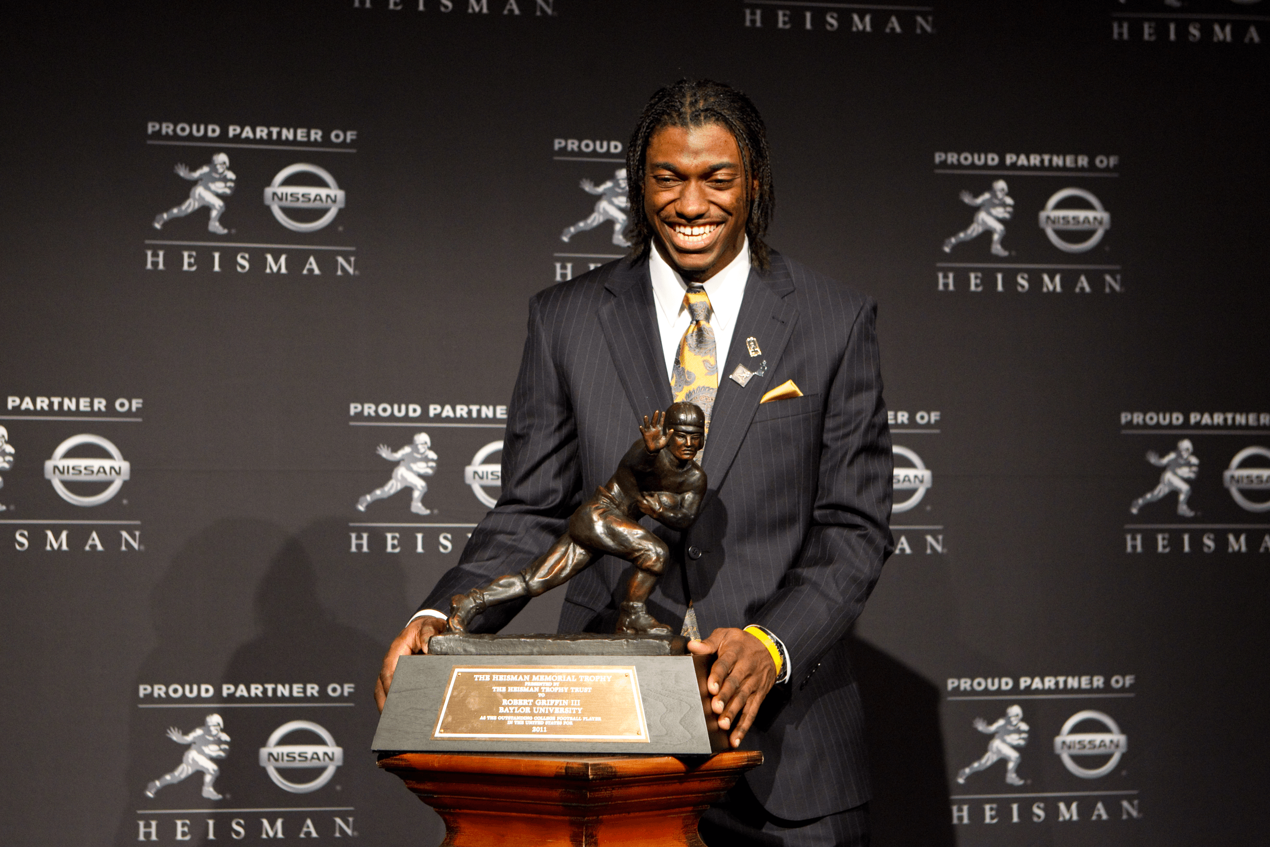 Step and Repeat Backdrop for Heisman-Trophy-Ceremony manufactured by National Flag & Display, Manufacturers of Banners and Flags in NYC since 1935.