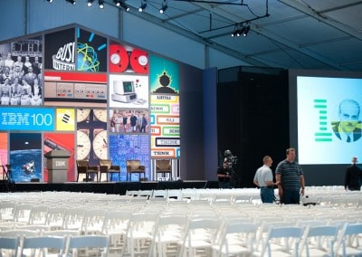 IBM Centennial event tent - Custom Banners, Flags, Displays manufactured by National Flag & Display (New York, NY)