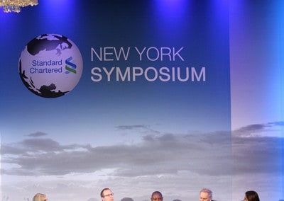 New York Symposium - Standard Chartered Custom Banners and backdrops manufactured by National Flag & Display (New York, NY)