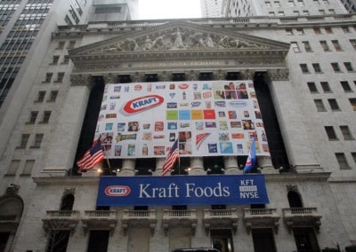 Kraft Foods and NYSE event - Custom Banners and Flags manufactured by National Flag & Display (New York, NY)