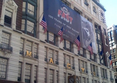 Macys Fashion Night Out (New York City) Custom Banners building wrap manufactured by National Flag & Display (New York, NY)