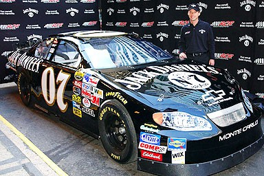 NASCAR Jack Daniels Step & Repeat Banner and Car Wrap manufactured by National Flag & Display (New York, NY)