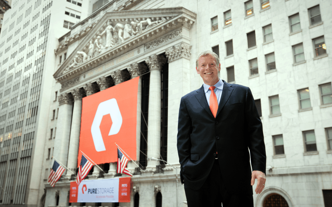 Custom Banners at the New York Stock Exchange for Pure Storage (IPO)