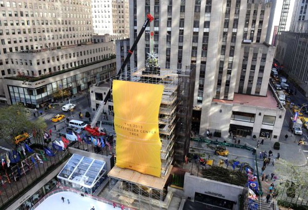 National Flag & Banner produces custom banners for 2013 Rockefeller Center Christmas Tree