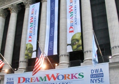 Shrek NYSE Custom Banners and Flags Display custom manufactured by National Flag & Display (New York, N