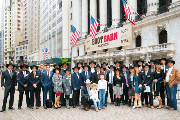 National Flag & Display produces banners for Boot Barn IPO at New York Stock Exchange