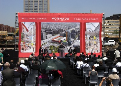 Vornado Ground Breaking Ceremony - Custom Banners, Flags, Displays manufactured by National Flag & Display (New York, NY)