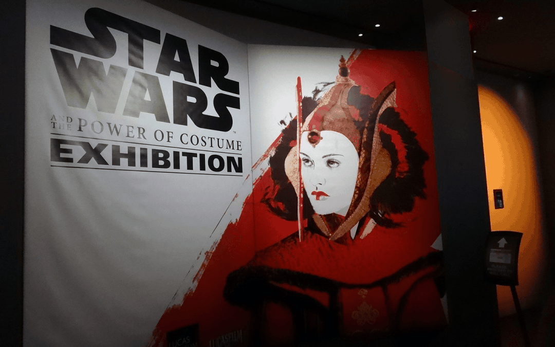 National Flag & Display produces the Custom Banner Graphics for Star Wars and the Power of The Costume exhibition