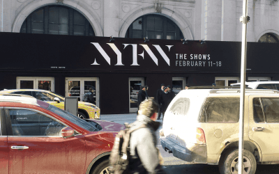 National Flag and Display produces tent wrap for the 2016 New York Fashion Week event