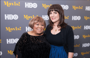 National Flag & Display (NYC) produces the Step and Repeat Backdrop for the new HBO documentary Mavis!