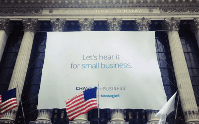 National Flag & Display produces Custom Banners – New York Stock Exchange for Chase for Business