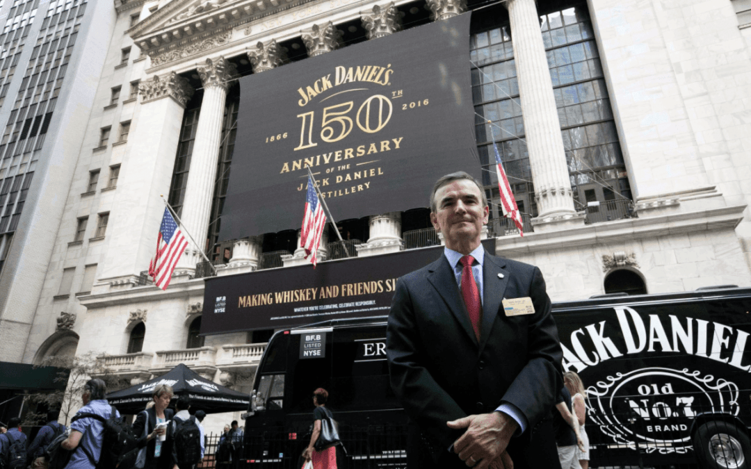 National Flag & Display produces Custom Banners at the New York Stock Exchange for the Brown-Forman Corporation
