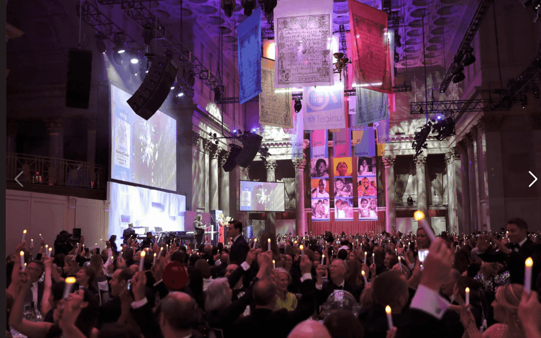 National Flag and Display produces Custom Banners for the 2016 UNICEF Snowflake Ball at Cipriani's New York City. The event celebrates UNICEF's 70th Anniversary for their commitment to saving and improving children's lives.