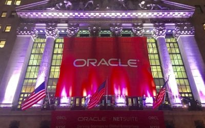 National Flag and Display produces Custom Banners at New York Stock Exchange for Oracle Corporation