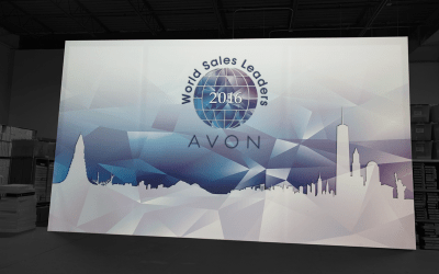 National Flag & Display produces a Silicone Edge Graphic (SEG) for the Avon World Sales Leaders
