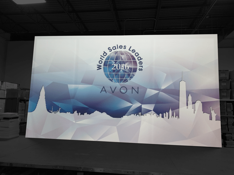 National Flag and Display produces a Silicone Edge Graphic (SEG) for the Avon World Sales Leaders 2016 Event.