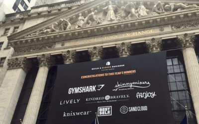 National Flag & Display produces Custom Banners for Shopify Inc. at the New York Stock Exchange