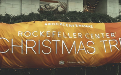 National Flag & Display produces Custom Banner for 2017 Rockefeller Center Christmas Tree