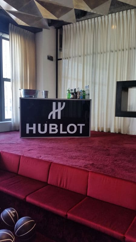 "National Flag and Display produces the Custom Banner for the Hublot/Haute Living 2018 NBA Draft ""Watch Party"""