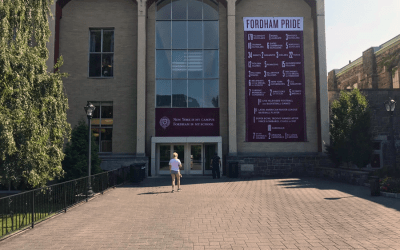 National Flag & Display produces Custom Dye-Sublimated Banners for Fordham University