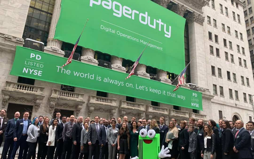 National Flag & Display produces the Custom Banners for New York Stock Exchange Initial Public Offering of Pager Duty