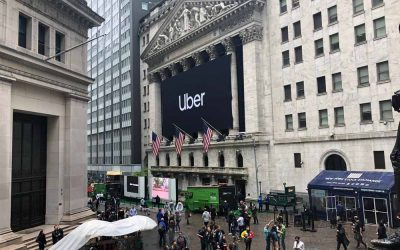 National Flag & Display produces Custom Banners at New York Stock Exchange for Uber Initial Public Offering