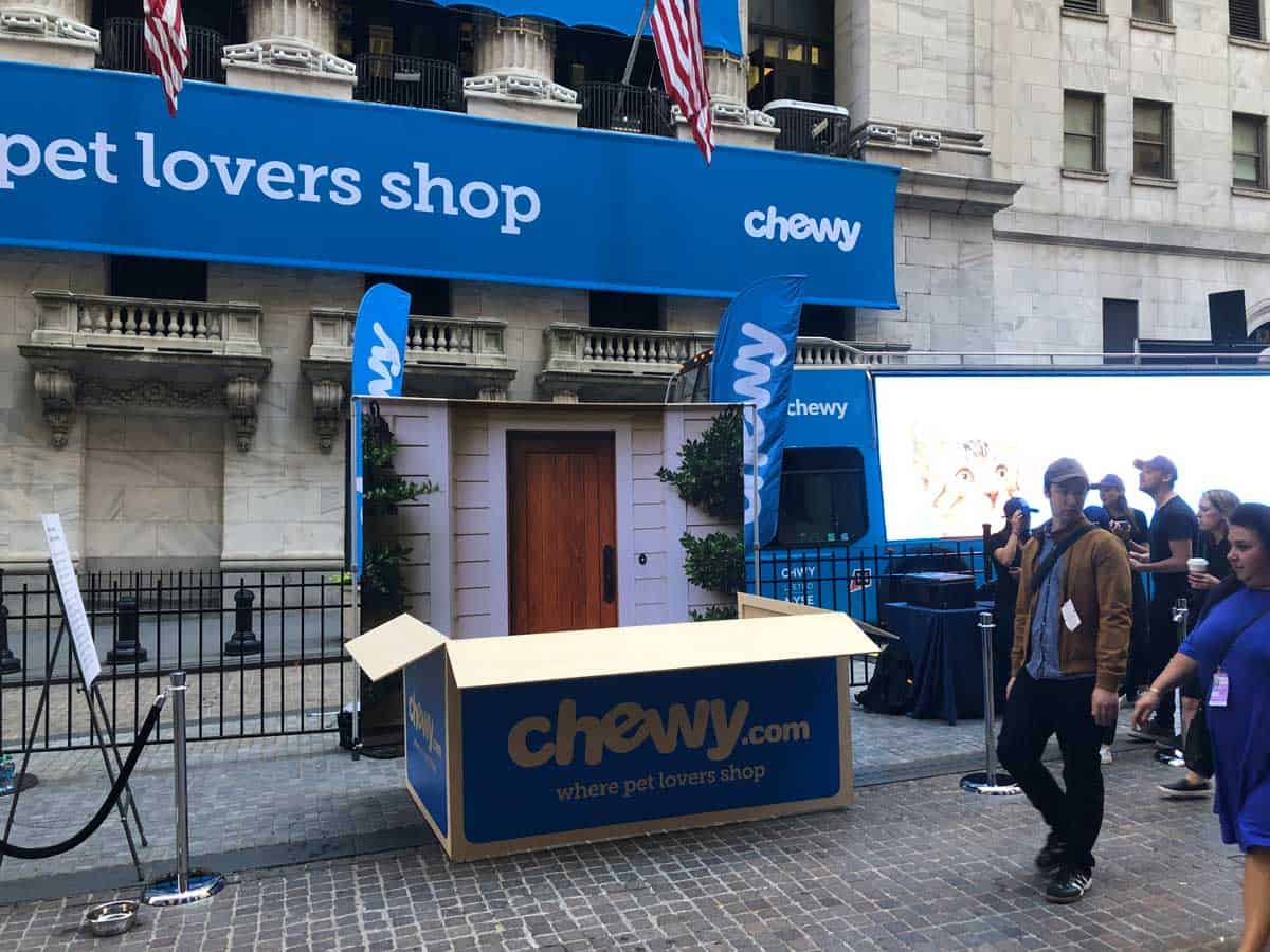 National Flag & Display produces Custom Banners for NYSE - Chewy IPO