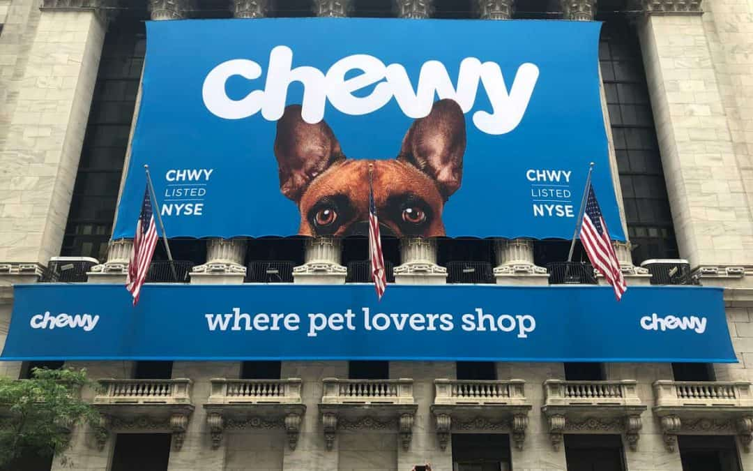 National Flag & Display produces Custom Banners for NYSE – Chewy IPO