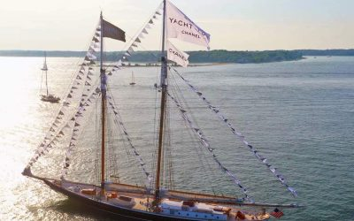 National Flag & Display produces Custom Flags for Chanel at Shelter Island, New York