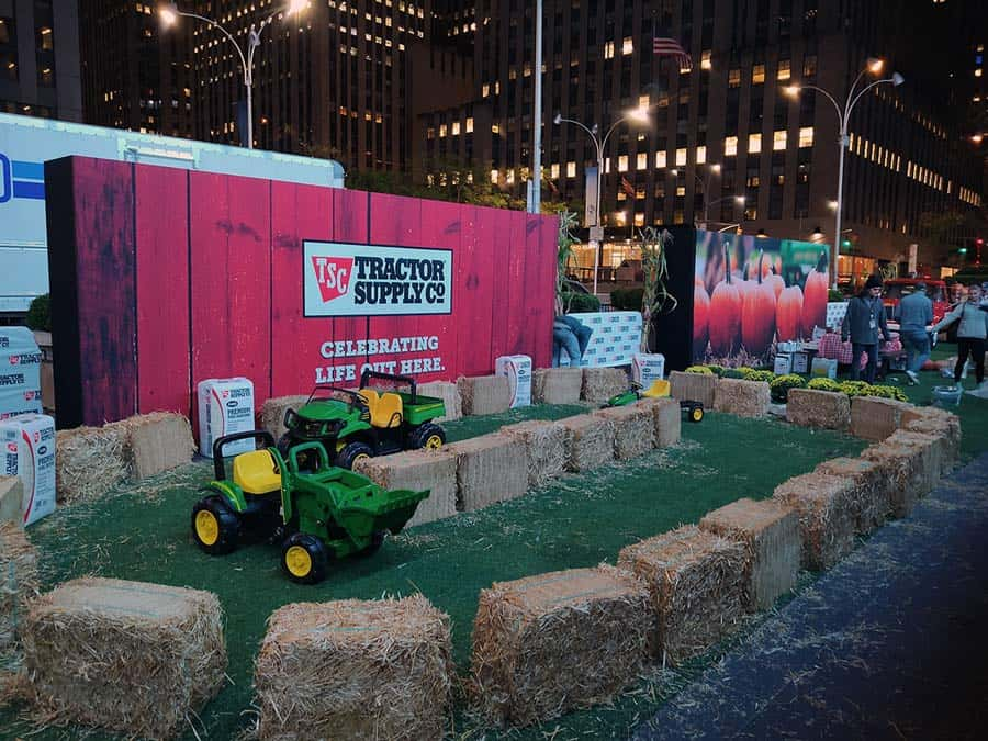 National Flag and Display produces the Custom Banners for the Tractor Supply Company event on National Farmers Day, for Fox and Friends 10-13-19.