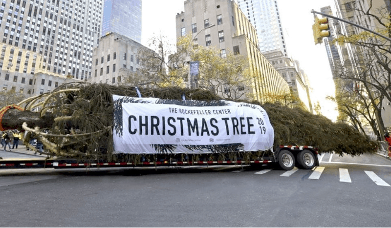 2019 Rockefeller Center Christmas Tree Custom Banner produced by National Flag & Display