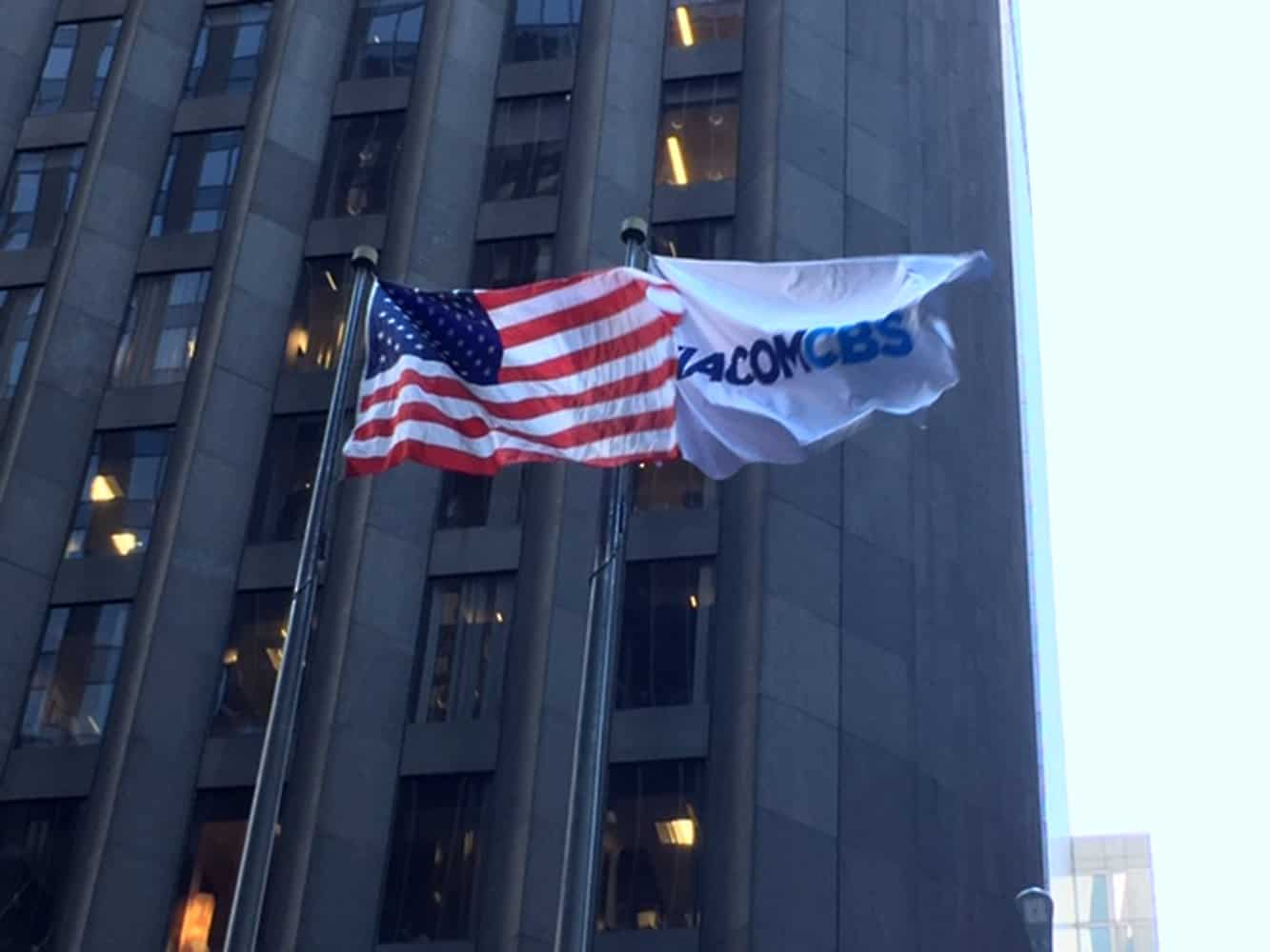 National Flag and Display produces a Custom Flag for ViacomCBS. The 2019 merger between CBS and Viacom was completed December 4, 2019.