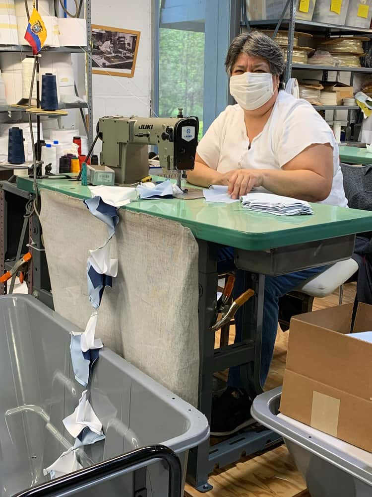 National Flag & Display produces Custom Face Masks at their New Jersey manufacturing facility.