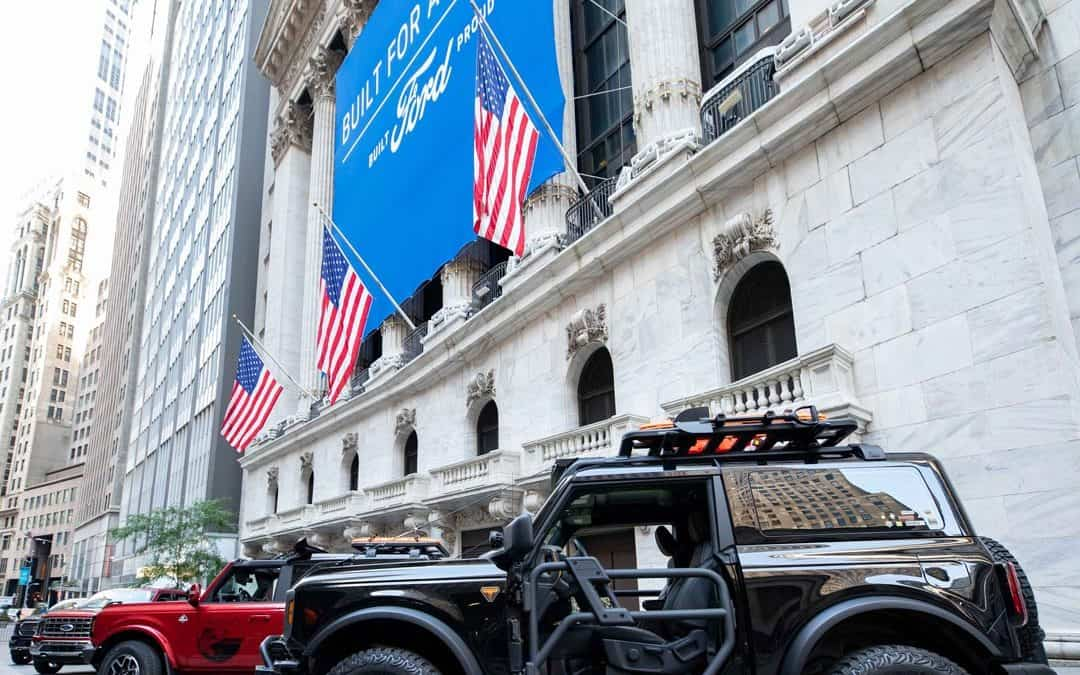 New York Stock Exchange Custom Banner for new F-150 and Bronco