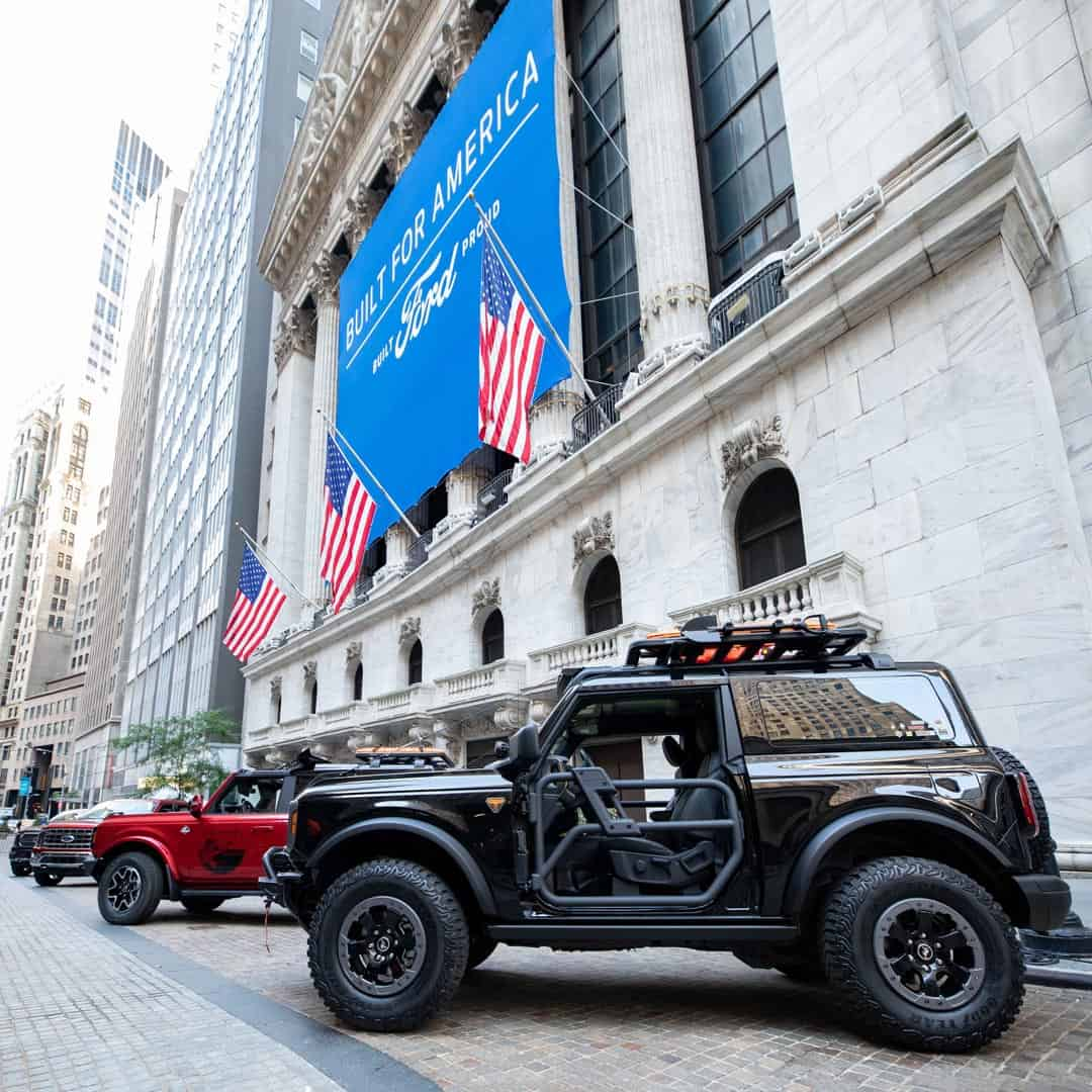 New York Stock Exchange Custom Banner for Ford Motor Company new F-150 and Bronco produced by National Flag & Display