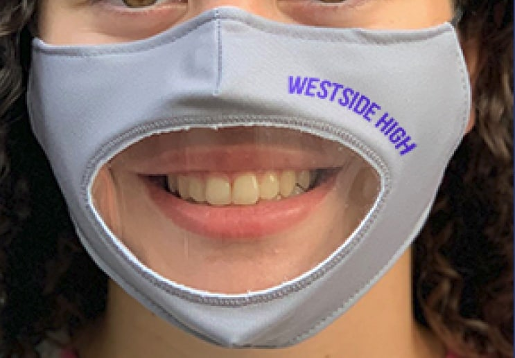 Face Mask Features a Clear Window That Always Allows Others To See Facial Expressions And Read Lips