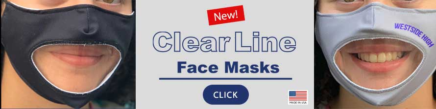 Clear Line Face Masks by National Flag & Display, New York, NY - Made in USA